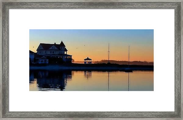 Waterfront Living Framed Print