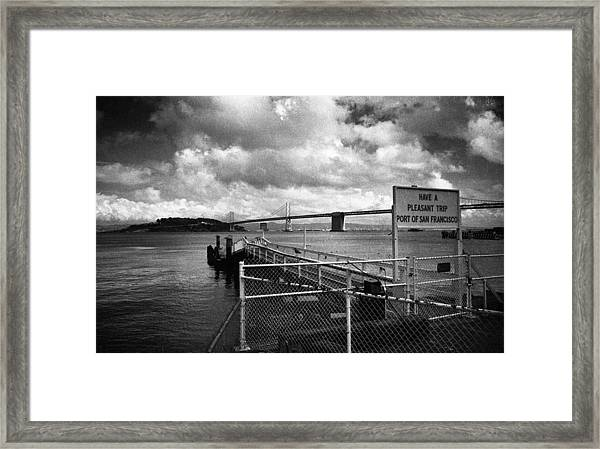 Waterfront San Francisco Framed Print