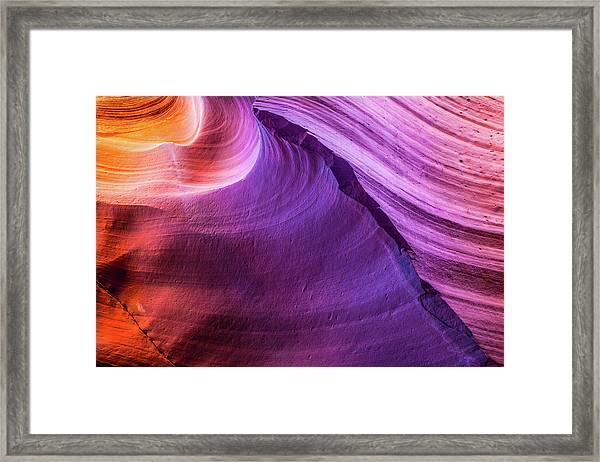 Waterhole Canyon Wave Framed Print