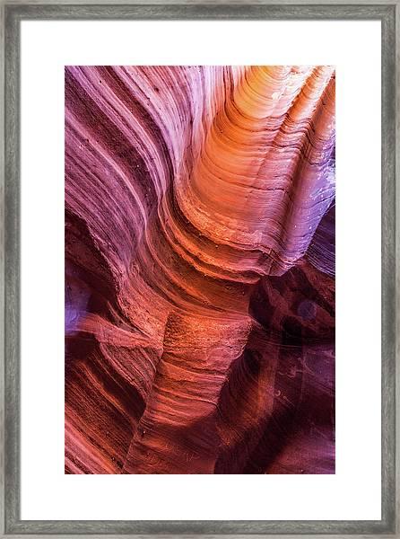 Waterholes Canyon Ribbon Candy Framed Print