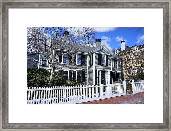 Waterhouse House In Cambridge Framed Print