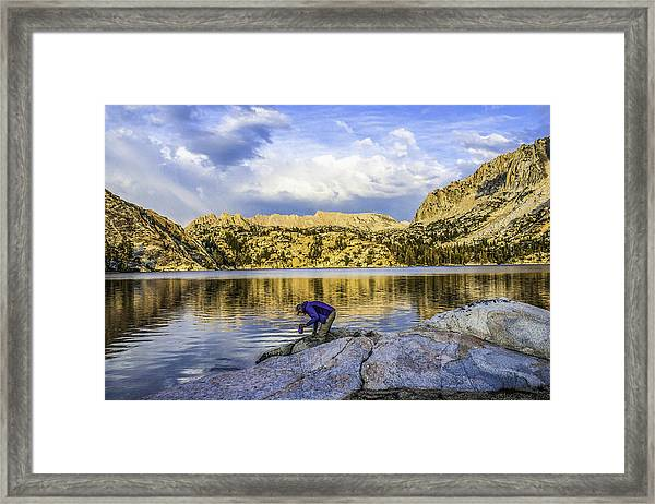 Watering Up Framed Print