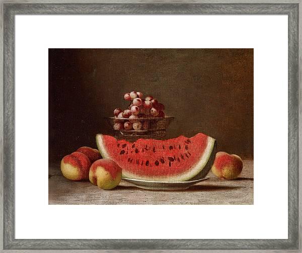 Watermelon Still Life Framed Print