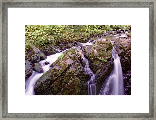 Waterstreaming Framed Print