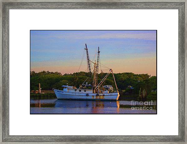 Old Shrimper Framed Print