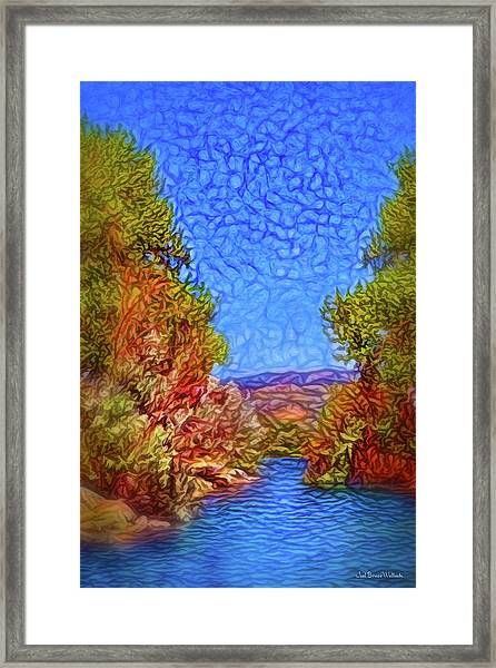 Waterway Reverie Framed Print