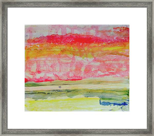 Watery Seascape Framed Print