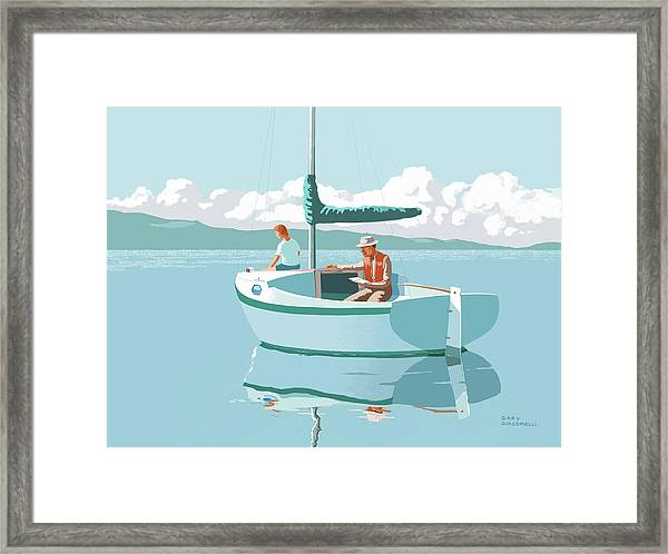 Wating For The Wind Framed Print