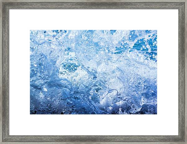 Wave With Hole Framed Print