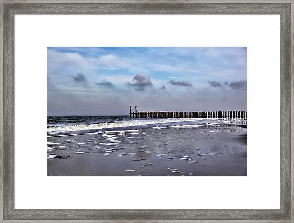 Wave Breakers Framed Print