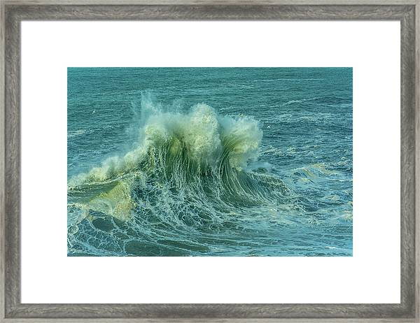 Wave Crown Framed Print