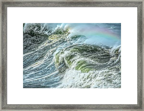 Wave Rainbow Framed Print