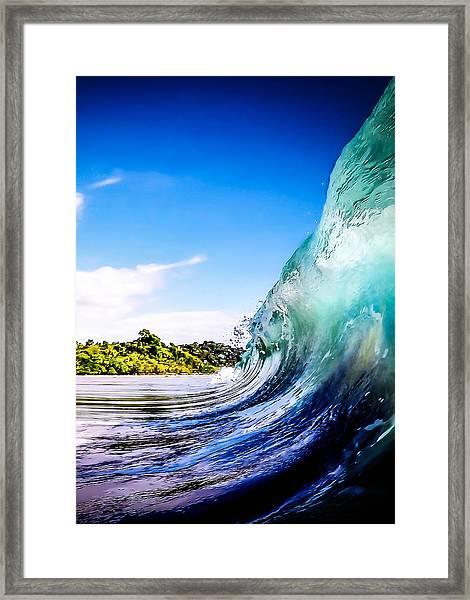 Wave Wall Framed Print