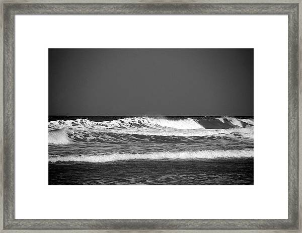 Waves 2 In Bw Framed Print