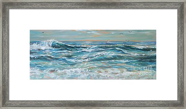 Waves And Wind Framed Print