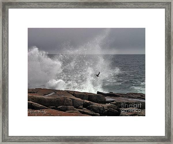 Waves Crashing  Framed Print