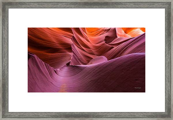 Waves-lower Antelope Canyon Framed Print