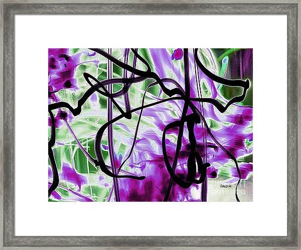Waves Of Purple Framed Print