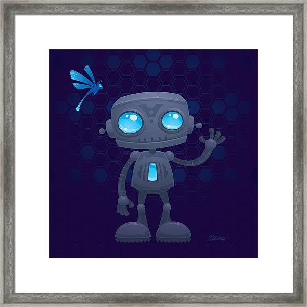 Waving Robot Framed Print