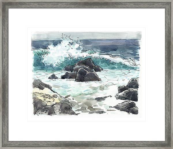 Wawaloli Beach, Hawaii Framed Print