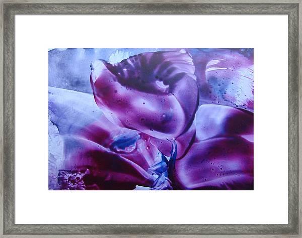 Wax Art Abstract 3 Framed Print by Liz Vernand