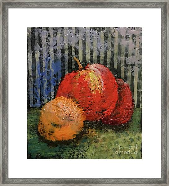 Waxed Fruit Framed Print