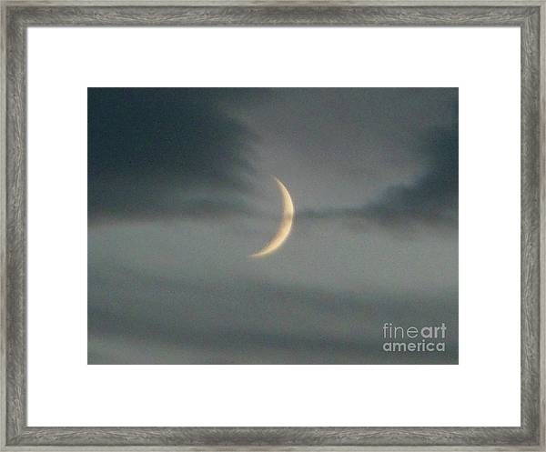 Waxing Crescent Moon Framed Print