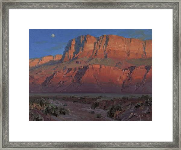 Waxing Moon Framed Print