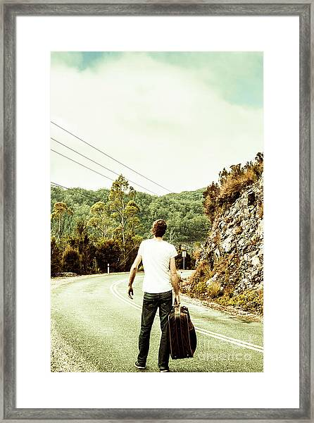 Way Of Old Travel Framed Print