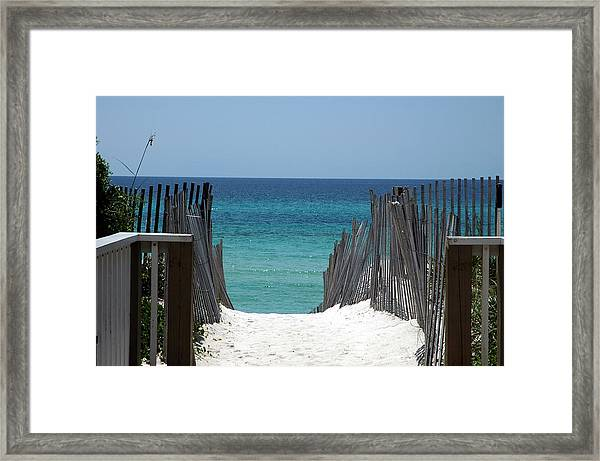 Way To The Beach Framed Print