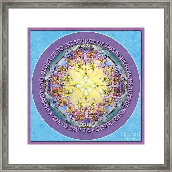 We Are Blessed Mandala Prayer Framed Print