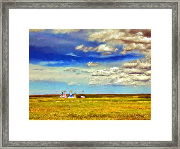 We Belong To This Land Framed Print