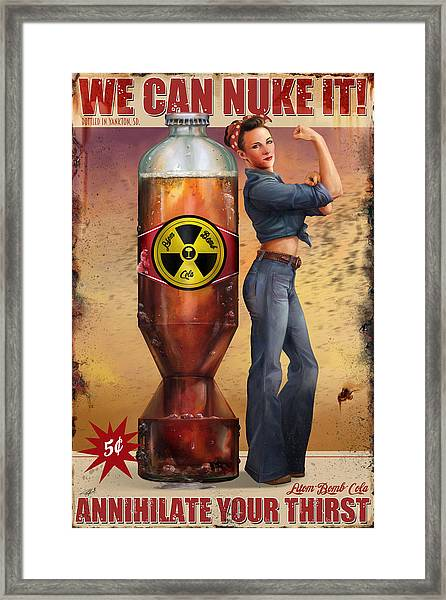 We Can Nuke It Framed Print