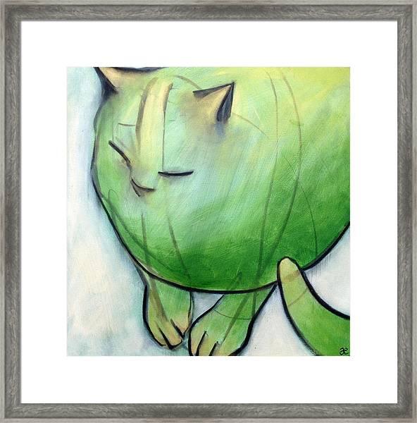 We Dream In Green 1 Framed Print