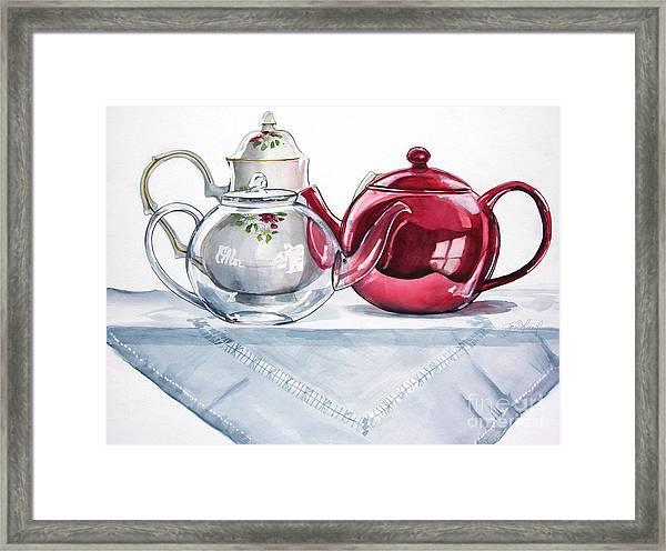 We Three Teapots Framed Print
