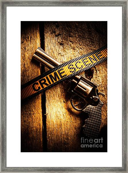 Weapon Forensics Framed Print