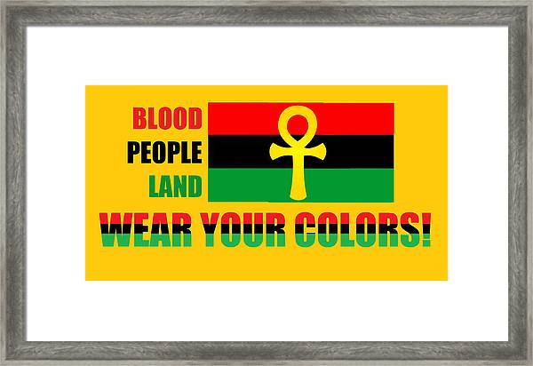 Wear Red Black And Green Framed Print