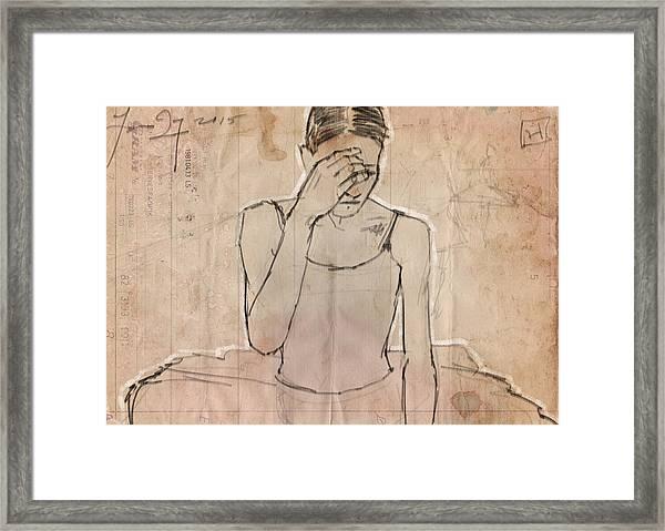 Weary Framed Print