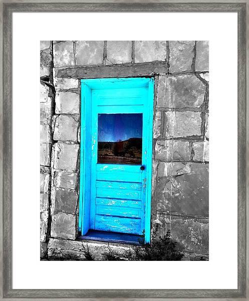 Weathered Blue Framed Print