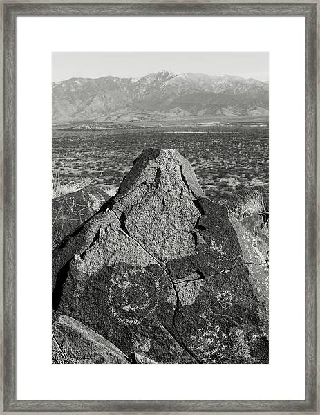 Weathered Peaks Framed Print by Joseph Smith