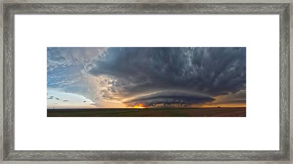 Weatherford Oklahoma Sunset Supercell Framed Print