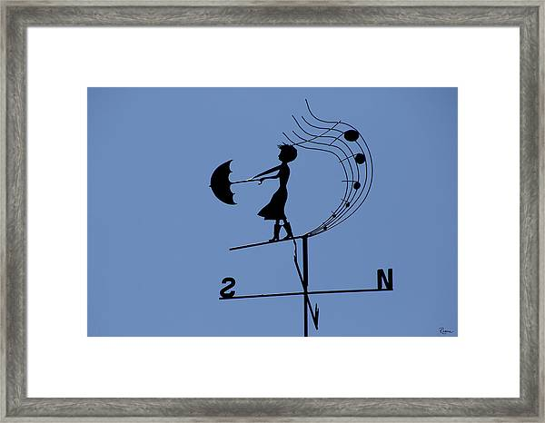 Weathergirl Framed Print
