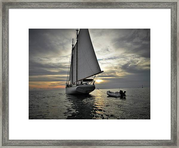 Wedding At Sea Framed Print