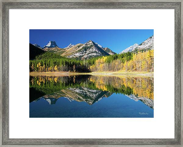Wedge Pond Color Framed Print