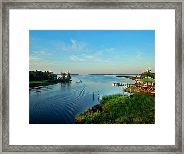 Weeks Bay Going Fishing Framed Print
