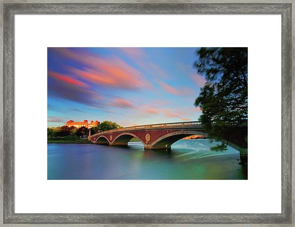 Weeks' Bridge Framed Print