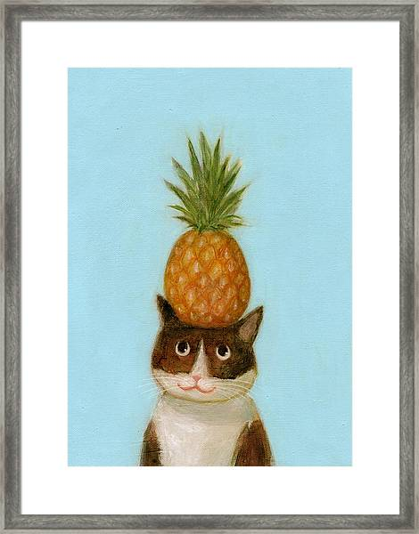 Welcome Cat Framed Print