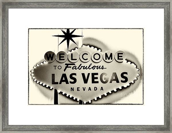 Welcome To Fabulous Las Vegas Nevada Framed Print