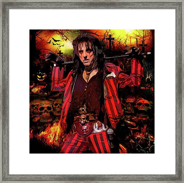 Welcome To My Nightmare Framed Print