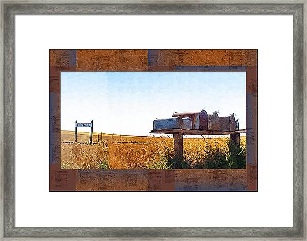 Welcome To Portage Population-6 Framed Print